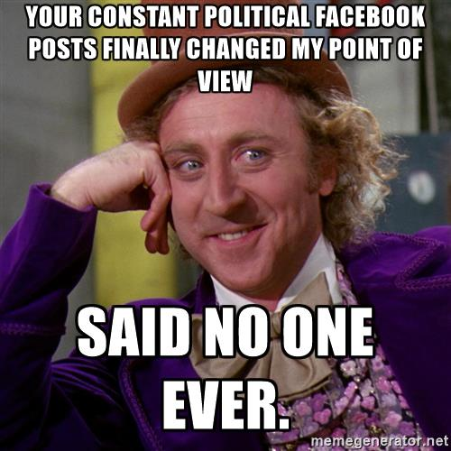 my view on politics When it comes to getting news about politics and government, liberals  are  more likely to have friends who share their own political views.