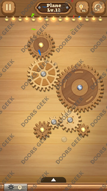 Fix it: Gear Puzzle [Plane] Level 12 Solution, Cheats, Walkthrough for Android, iPhone, iPad and iPod