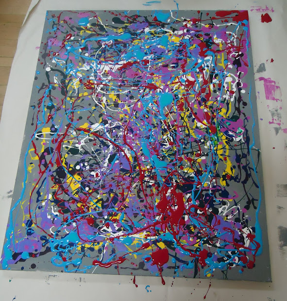 Lesson Pollock-inspired Drip Painting