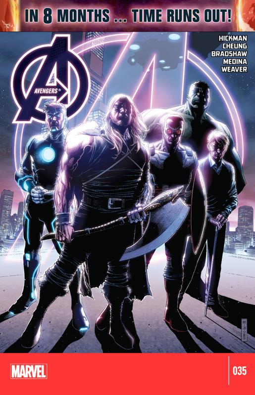 Marvels: Avengers 35, Uncanny Avengers 24, Avengers World 13