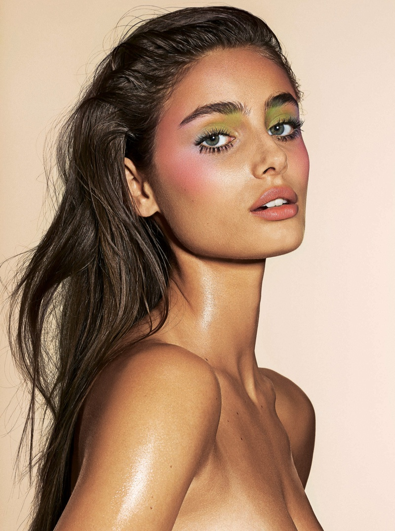 Taylor Hill Charms in Spring Beauty Looks for Sunday Times Style
