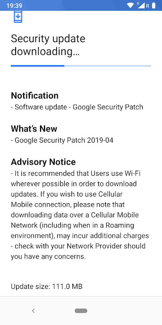 Nokia 3.1 receiving April 2019 Android Security Update