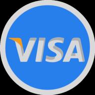 visa button outline