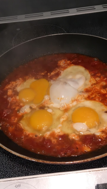 eggs in salsa | gluten free for Shakshookah at www.realfoodblogger.com