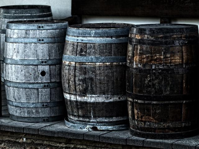 Barris antigos para cerveja