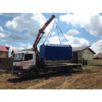 Constructii rapide si eficiente cu un camion cu macara de inchiriat