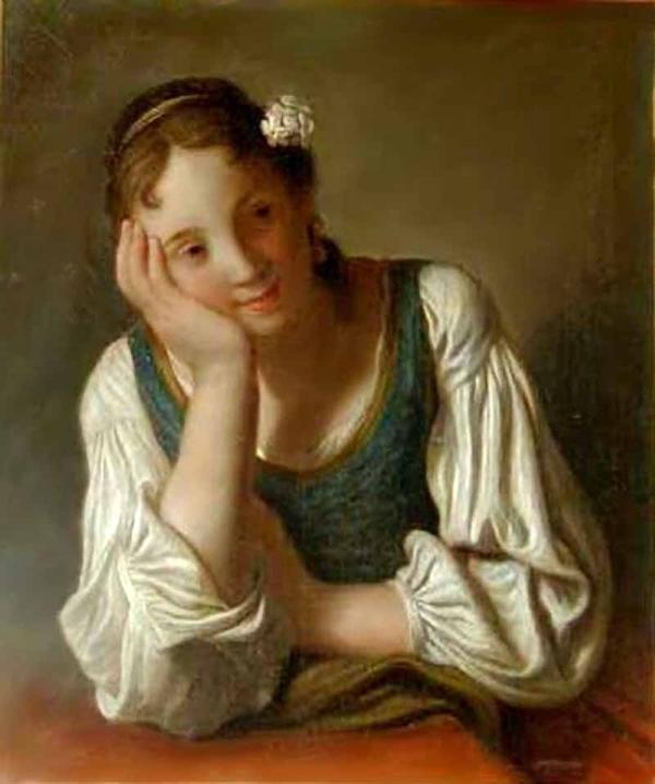 Ротари Пьетро Антонио Pietro Antonio Rotari Девушка с белыми цветами в волосах