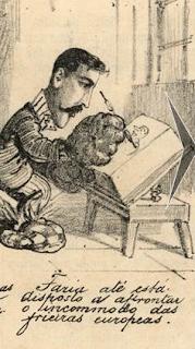 Caricatura Faria feita provavelmente por Borgomainerio