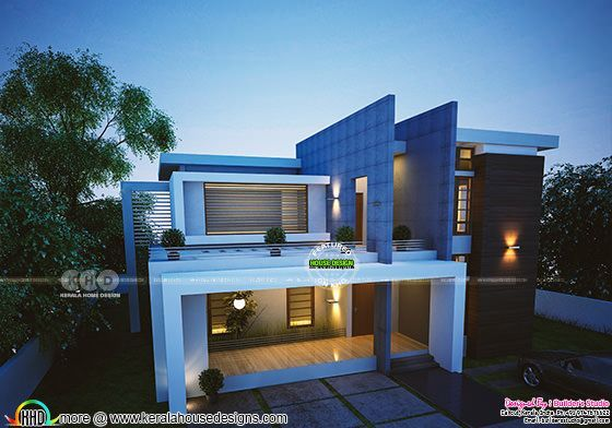 Awesome stylish contemporary 3 bedroom Kerala home