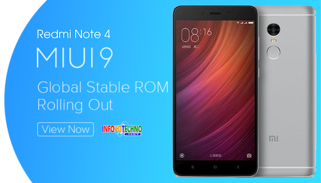 Update Redmi Note 4 dengan MIUI 9 Global Stable ROM v9.0.3
