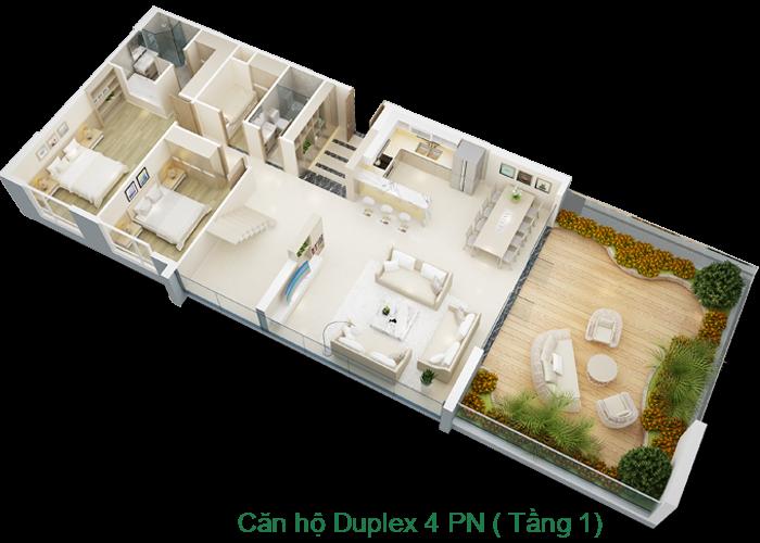 Căn hộ Duplex tầng 1 Mỹ Đình Pearl