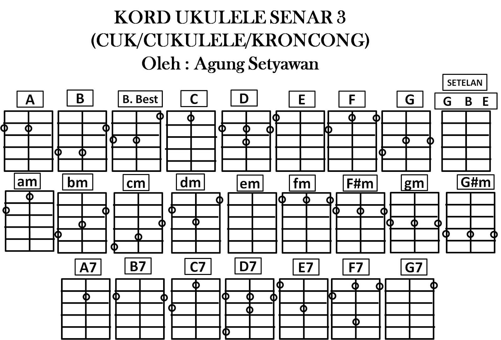 MASTER UKULELE: kord ukulele/cuk/cukulele/kentrung senar 3 ...