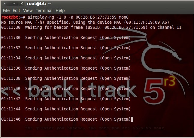 Crack Hack WiFi WEP password Backtrack KaliLinux