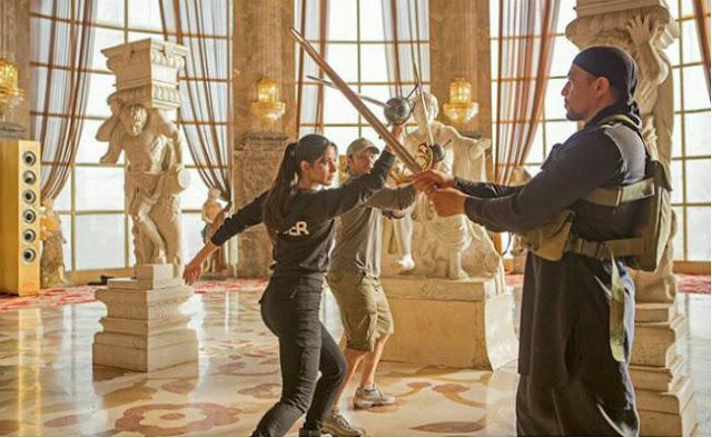 Katrina Kaif on the sets of Tiger Zinda Hai