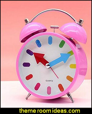 pink clock  fun and funky - cute and colorful  - chic and trendy decorating ideas - unique decor - girls bedroom decor - colorful decor  - decorating with color - color inspiration decorating ideas - colorful bedrooms - colorful furniture - colorful bedding -