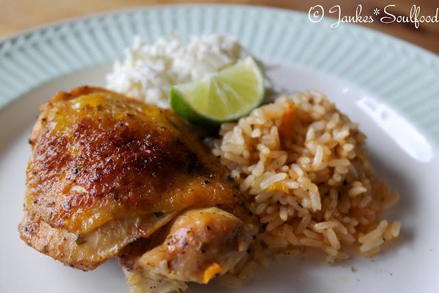 Paprika-Hähnchen mit Reis von Jankes Soulfood