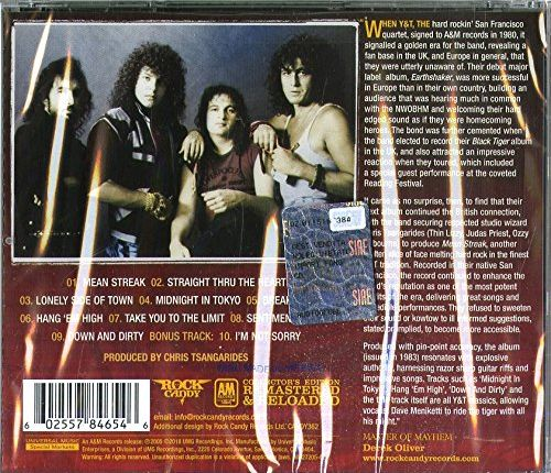 Y&T - Mean Streak [Rock Candy remastered +1] (2018) back