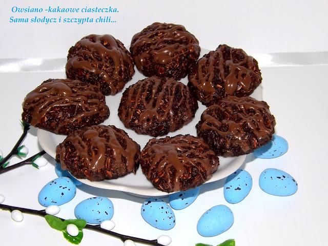 Ciasteczka owsiano- kakaowe.