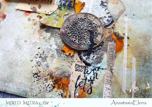 @nastyalena #scrapbooking #mixedmedia #layout