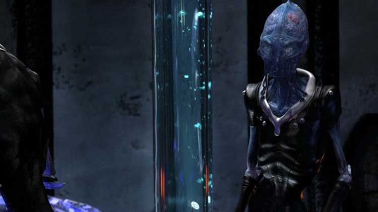 "A space alien in the Stargate Universe episode ""Space"""
