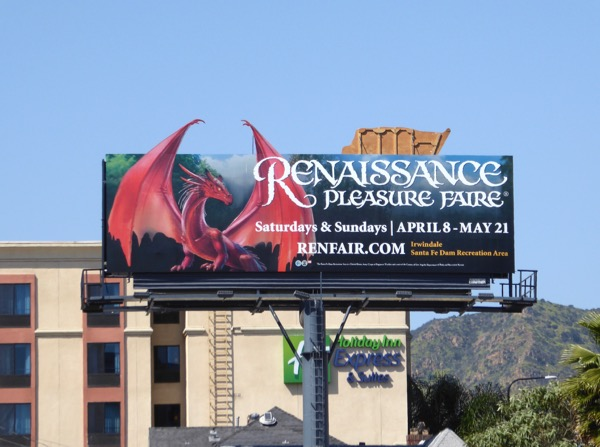 Renaissance Faire special extension dragon billboard