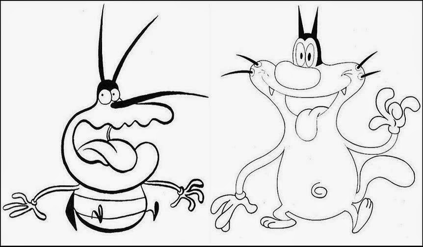 oggy and the cockroaches coloring pages online - photo #13