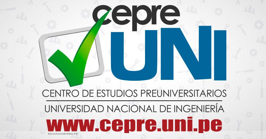 Resultados CEPRE-UNI 2019-2 (24 Febrero) Prueba de Selección del Ciclo de Admisión Preuniversitario - Universidad Nacional de Ingeniería - www.cepre.uni.pe   www.uni.edu.pe