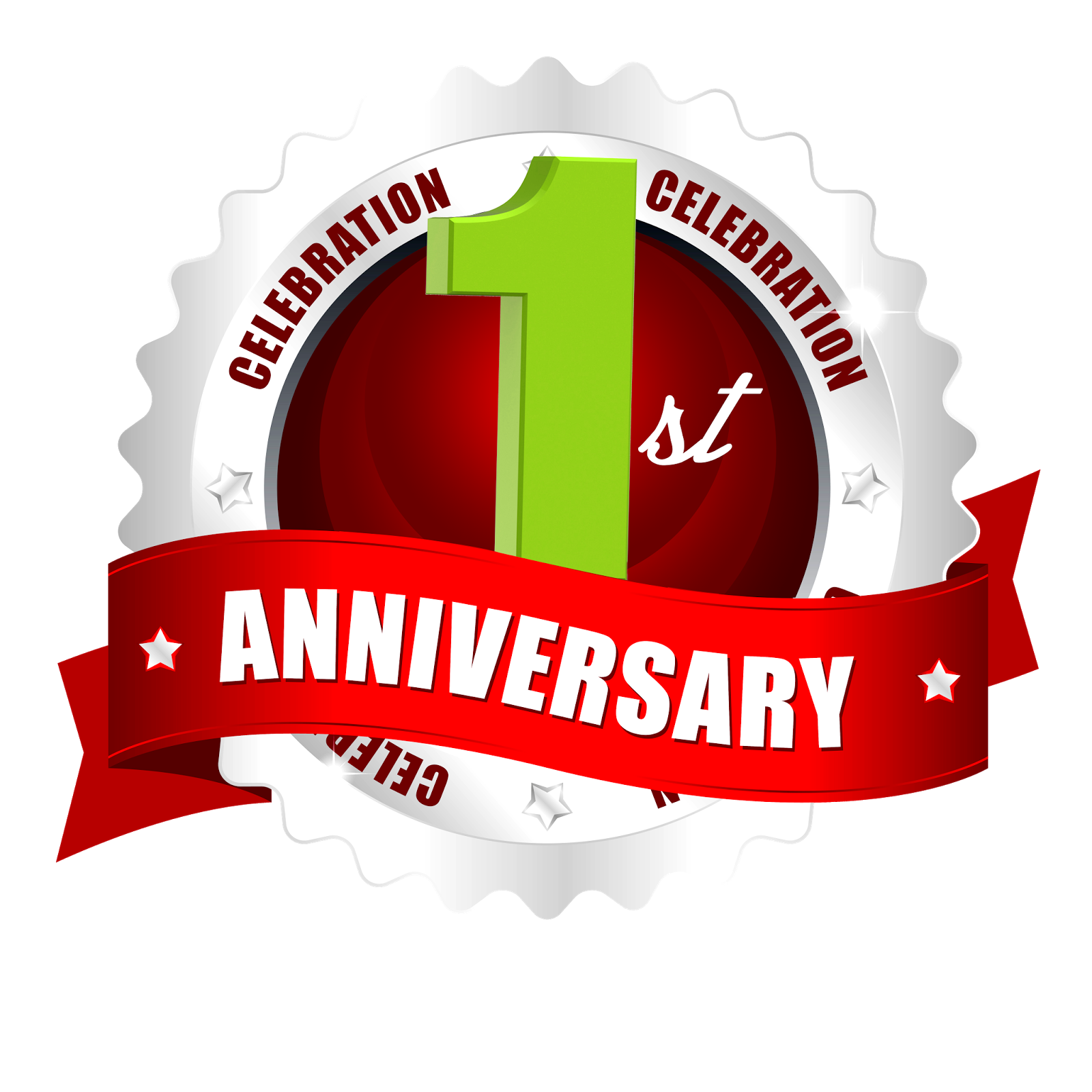 St anniversary hd png logo downloads with red ribbon