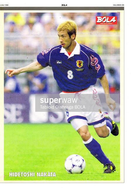 HIDETOSHI NAKATA JAPAN WORLD CUP 1998