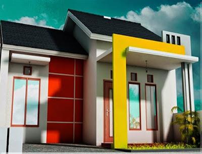 warna cat dinding luar rumah yang cerah 2