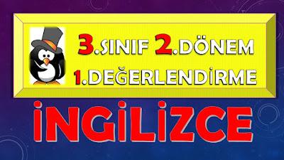 3.SINIF İNGİLİZCE - 2.DÖNEM 1.DEĞERLENDİRME