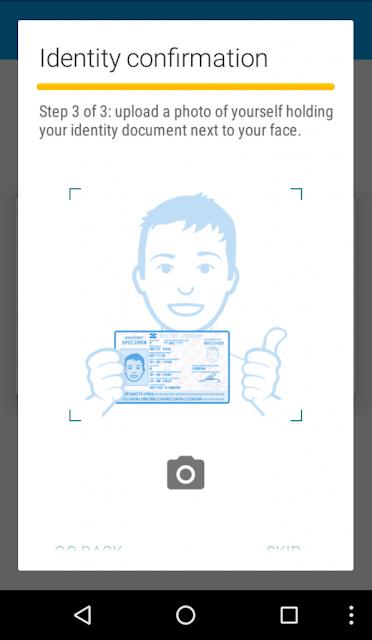 selfie com o documento de identidade