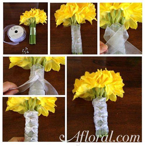 tutorial buat bunga tangan cala lily
