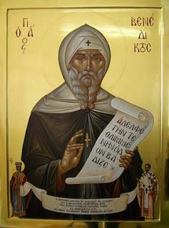 Ο Βενέδικτος ο εκ Νουρσίας ή άγιος Βενέδικτος   για τους καθολικούς και τους ορθόδοξους (~480-547)