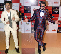 Varun Dhawan and Ranveer Singh at the Red Carpet of Zee Awards 2017i ~  Exclusive Galleries 004.jpg