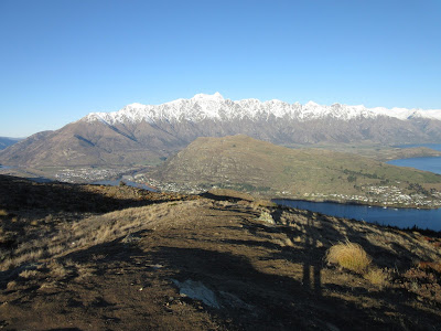 The Remarkables desde el sendero de Queenstown Hill, Nueva Zelanda