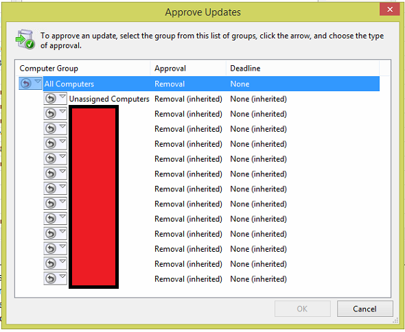 Uninstall Windows and Office Updates using Windows Server Update Services (WSUS) 3