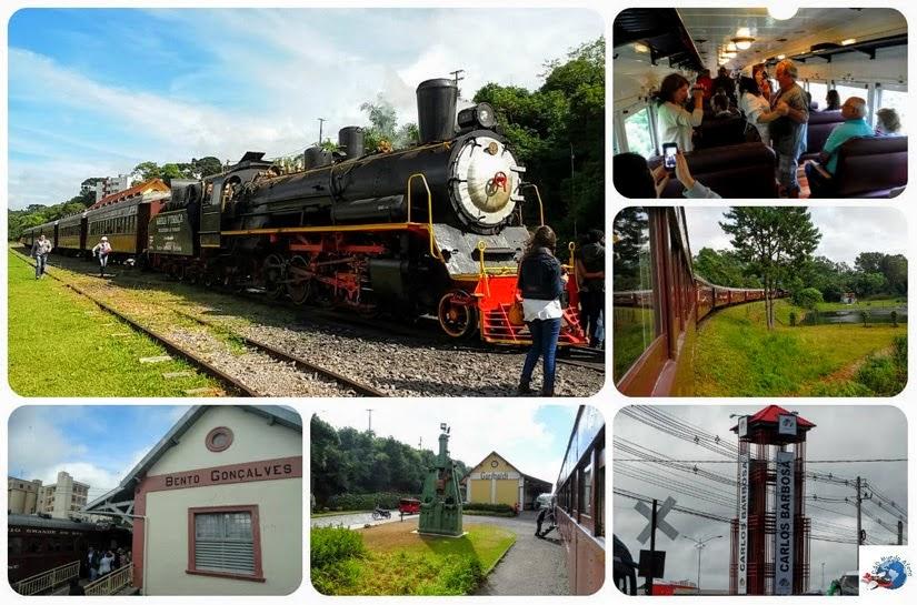 Trem Maria Fumaça Rio Grande do Sul - City Tour Vale dos Vinhedos