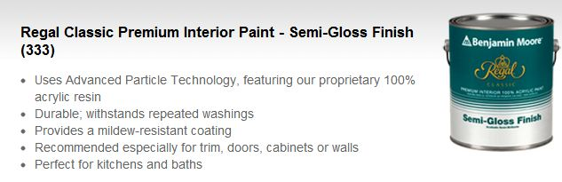 gallon-Benjamin Moore -Regal semi gloss