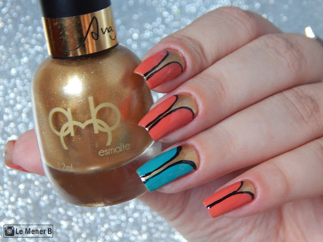 nail art golden