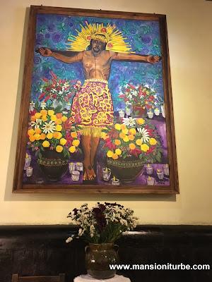 Soledad Tafolla Levorini Painting at Hotel Mansión Iturbe in Patzcuaro