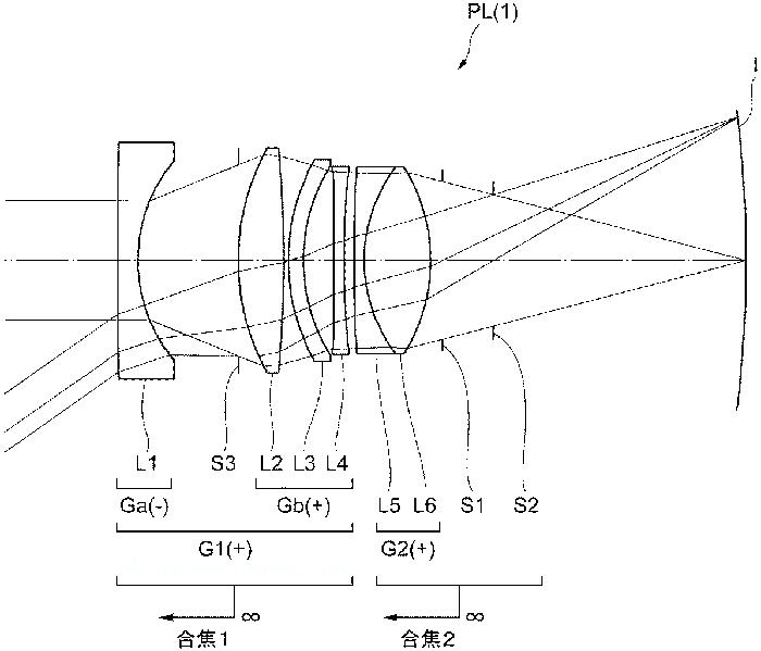 Оптическая схема Nikon для объектива 35mm f/2.0 для работы в паре с изогнутым сенсором