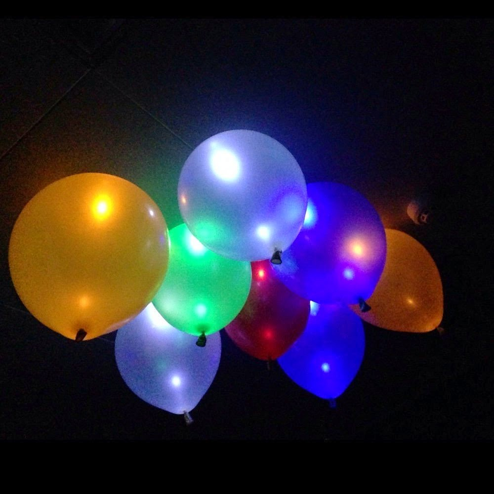 If you are having a fun summer party, these light up glow in the dark balloons would be perfect for your entertaining and party decorations.   These are a great addition to any party and will wow and amaze your guests.