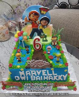 Kue Tart Ulang Tahun Boboiboy Mainan