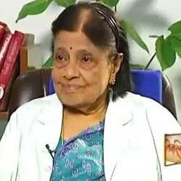 Smiling image of Dr. Padmavathy, the first female cardiologist of India.