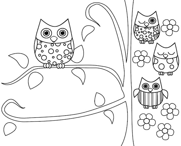 Coloring Pages Printable Free  Owl Coloring Pages Printable Adults  Teenagers Kids Sheets