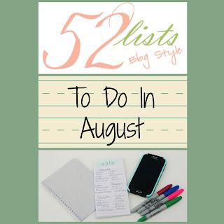 52 Lists #31 - To Do in August on Homeschool Coffee Break @ kympossibleblog.blogspot.com