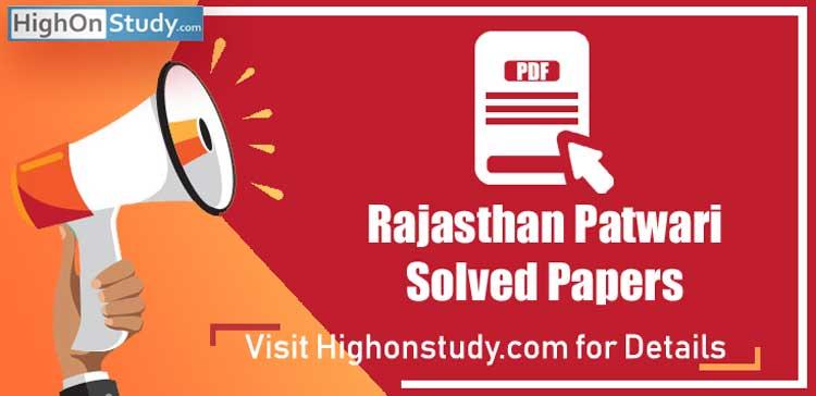 Rajasthan Patwari Solved Paper