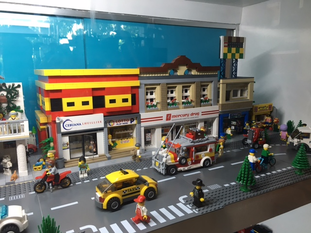 LEGO display of a typical Filipino life at Brick Burger Philippines