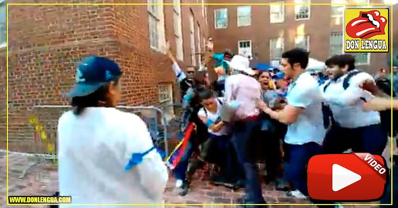 Invasores chavistas de a Embajada en Washington golpearon a una mujer embarazada